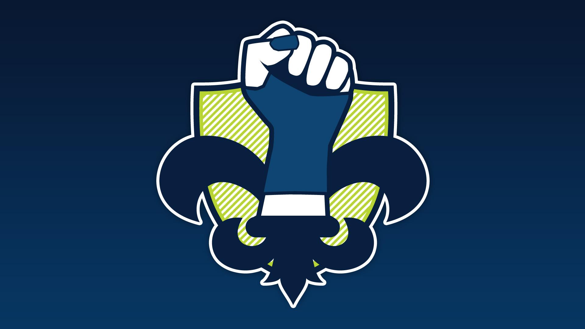 """Acadiana Good Times Rollers – """"Deurby-Lis"""" team logo"""
