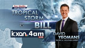KXAN Tropical Storm Bill tease