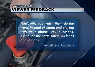 KXAN Investigates Oil Change Feedback fullscreen