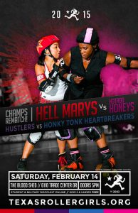 Texas Rollergirls Bout Poster