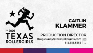 Texas Rollergirls Business Cards