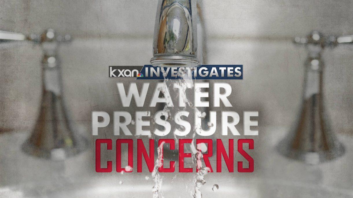 KXAN Investigates Water Pressure Concerns Monitor/OTS Graphic